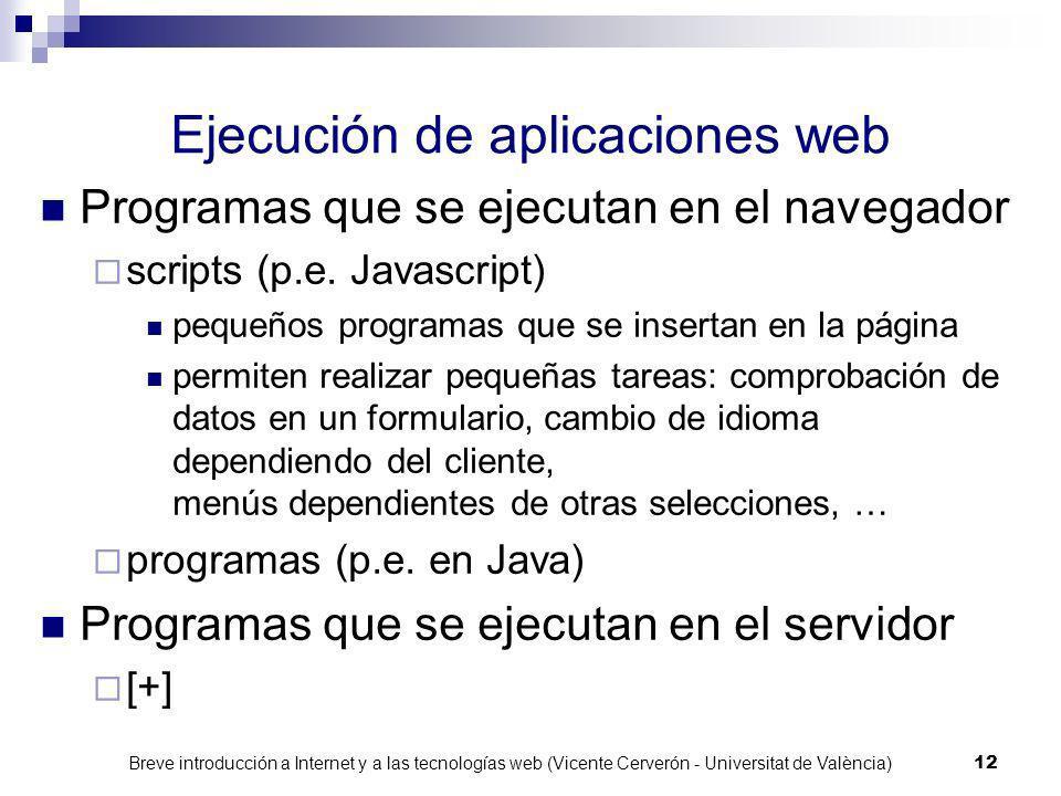 Ejecución de aplicaciones web
