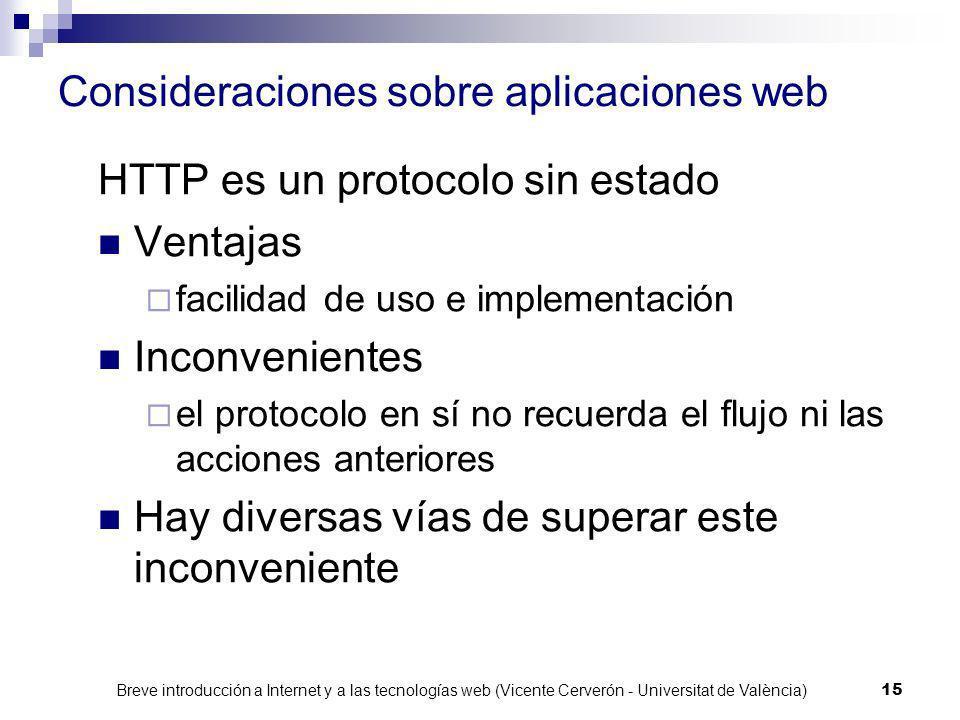 Consideraciones sobre aplicaciones web