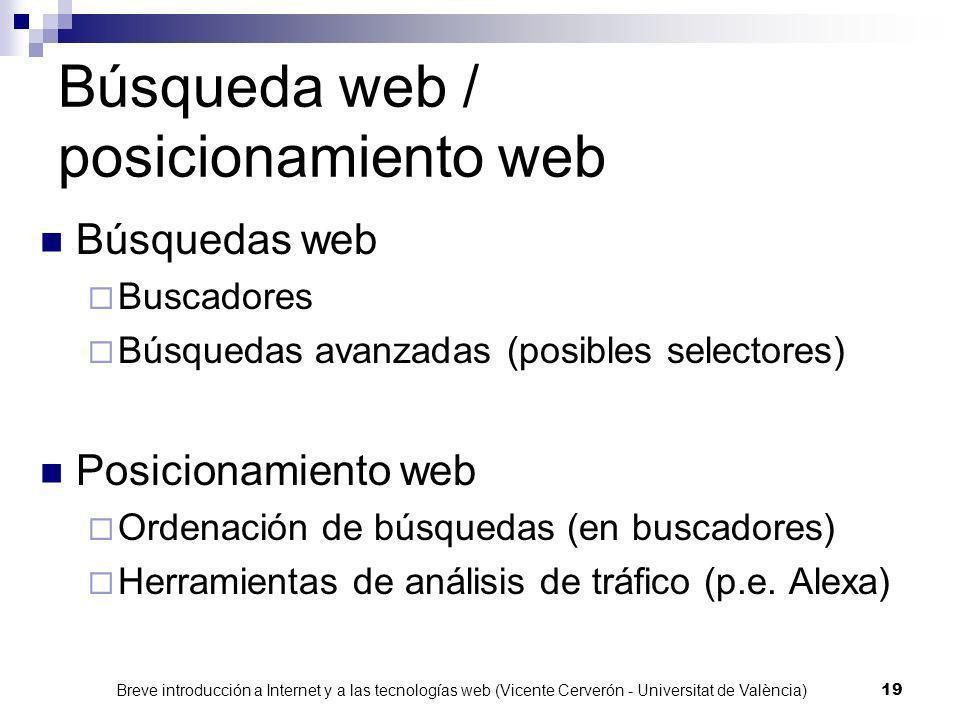 Búsqueda web / posicionamiento web