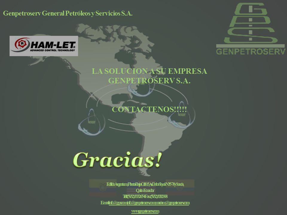 Gracias! LA SOLUCION A SU EMPRESA GENPETROSERV S.A. CONTACTENOS!!!!!