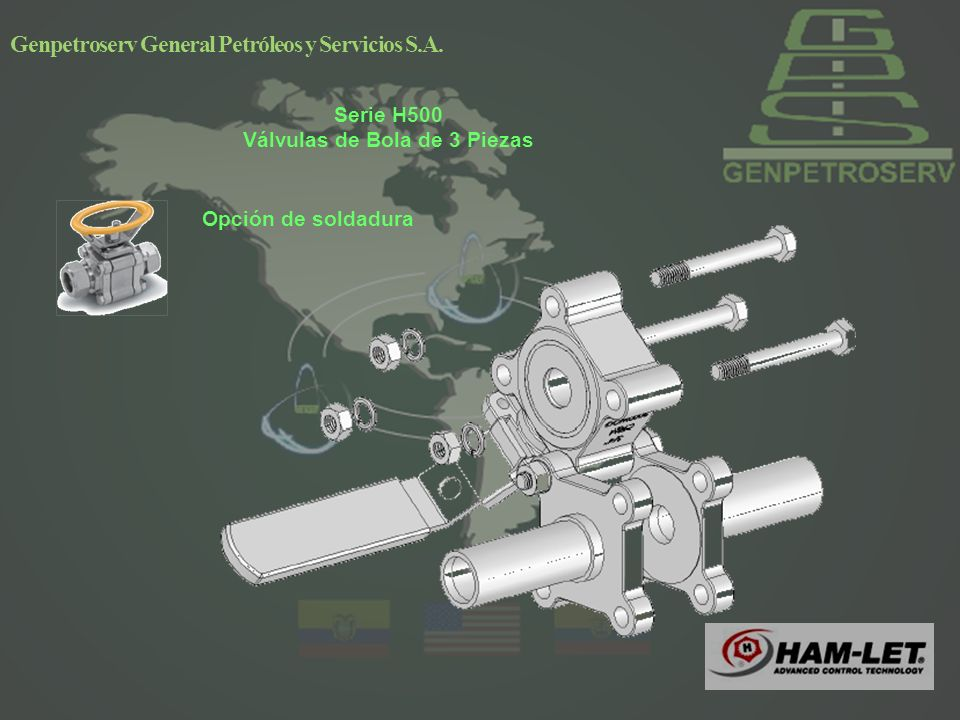 Serie H500 Válvulas de Bola de 3 Piezas