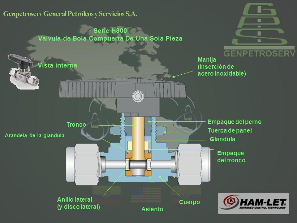 Serie H800 Válvula de Bola Compuerta De Una Sola Pieza