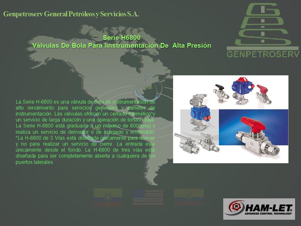 Serie H6800 Válvulas De Bola Para Iinstrumentación De Alta Presión