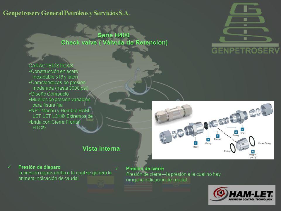 Serie H400 Check valve ( Válvula de Retención)