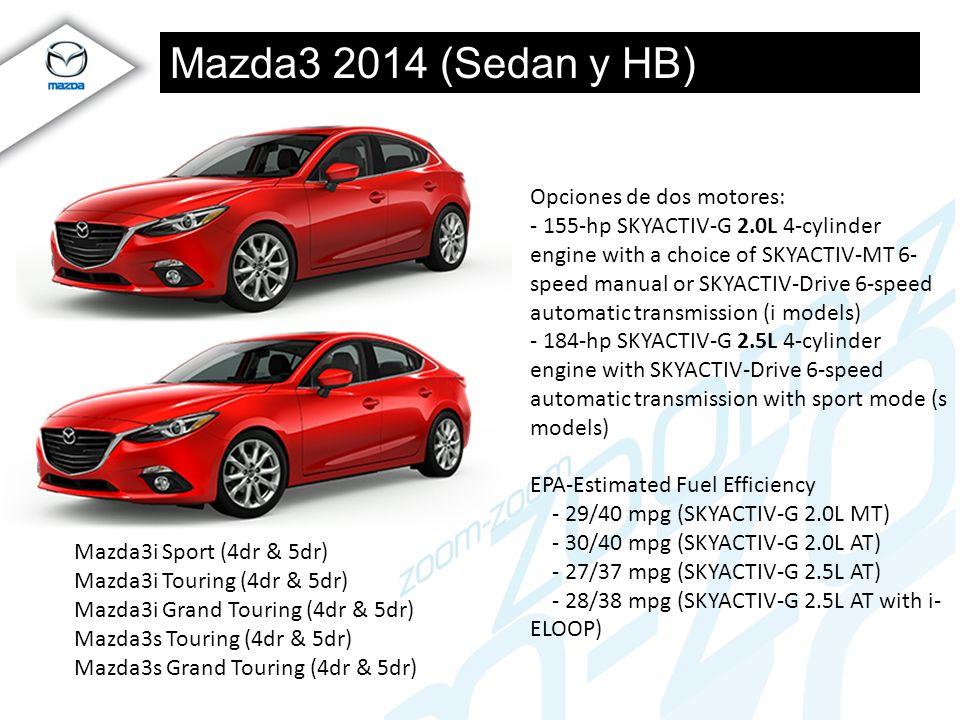 Mazda3 2014 (Sedan y HB) Opciones de dos motores: