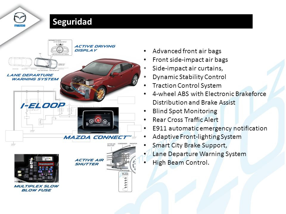 Seguridad Advanced front air bags Front side-impact air bags