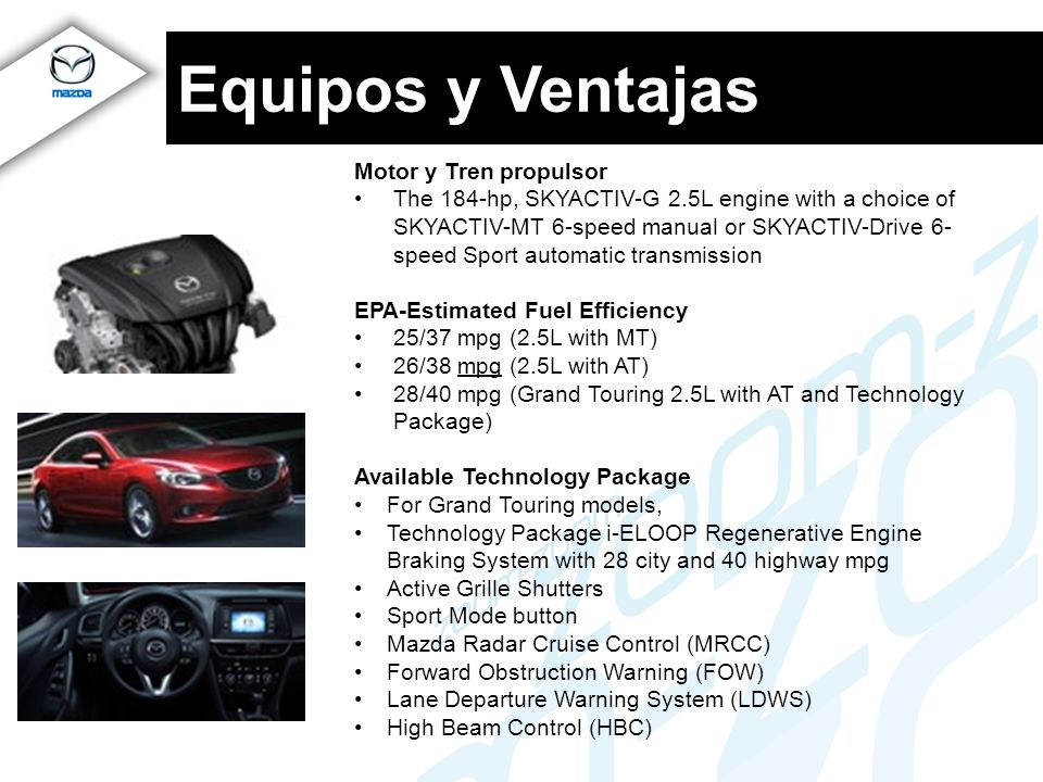 Equipos y Ventajas Motor y Tren propulsor
