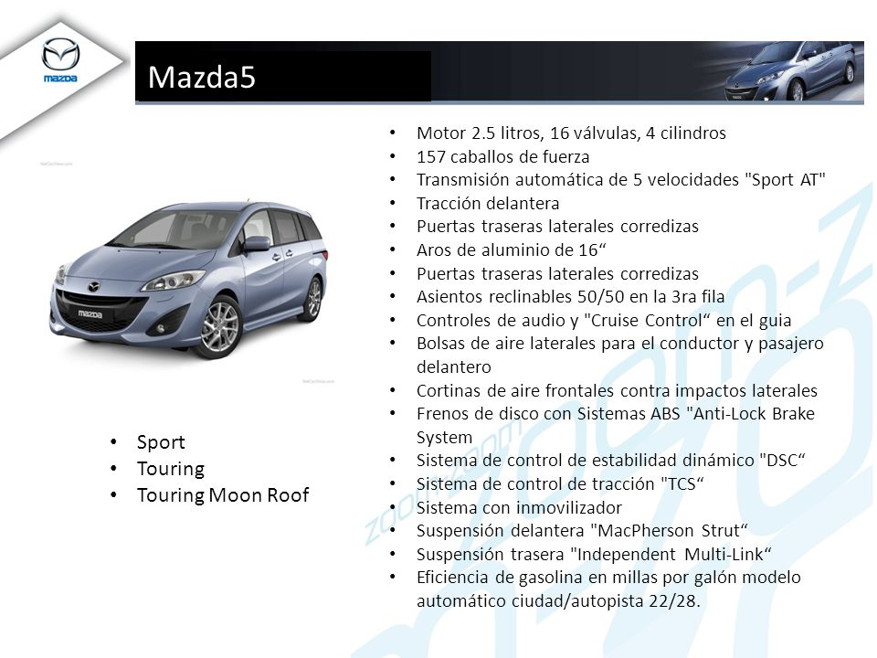 Mazda5 Sport Touring Touring Moon Roof