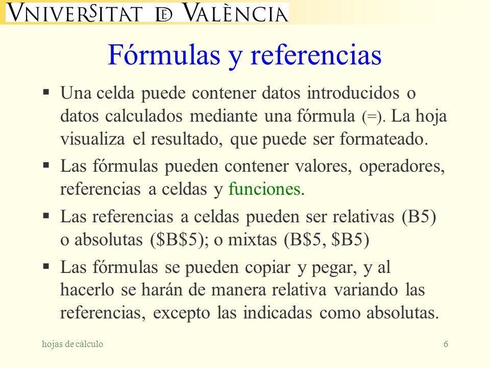Fórmulas y referencias