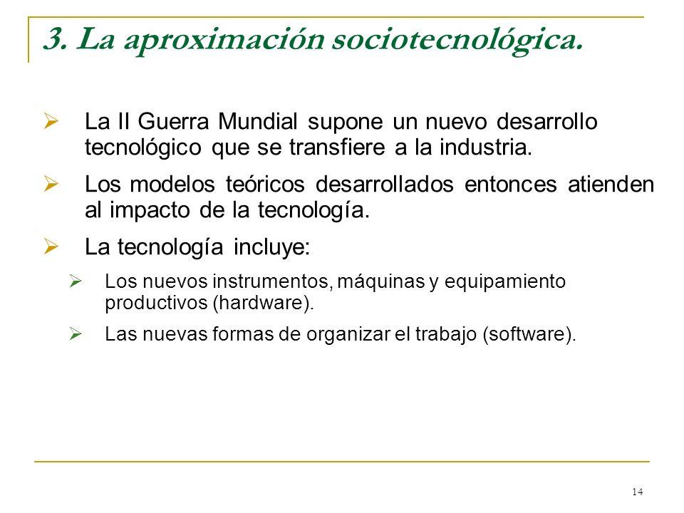 3. La aproximación sociotecnológica.