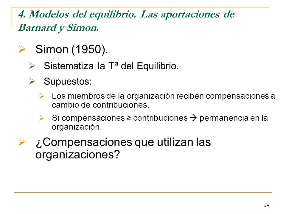 4. Modelos del equilibrio. Las aportaciones de Barnard y Simon.