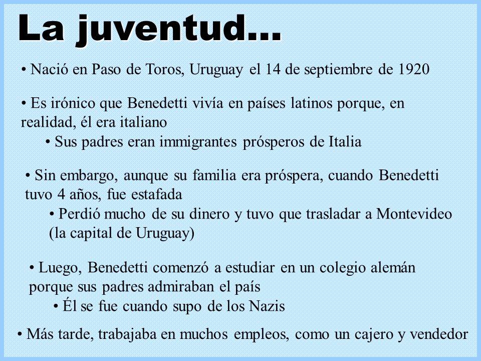 La juventud… Nació en Paso de Toros, Uruguay el 14 de septiembre de 1920.