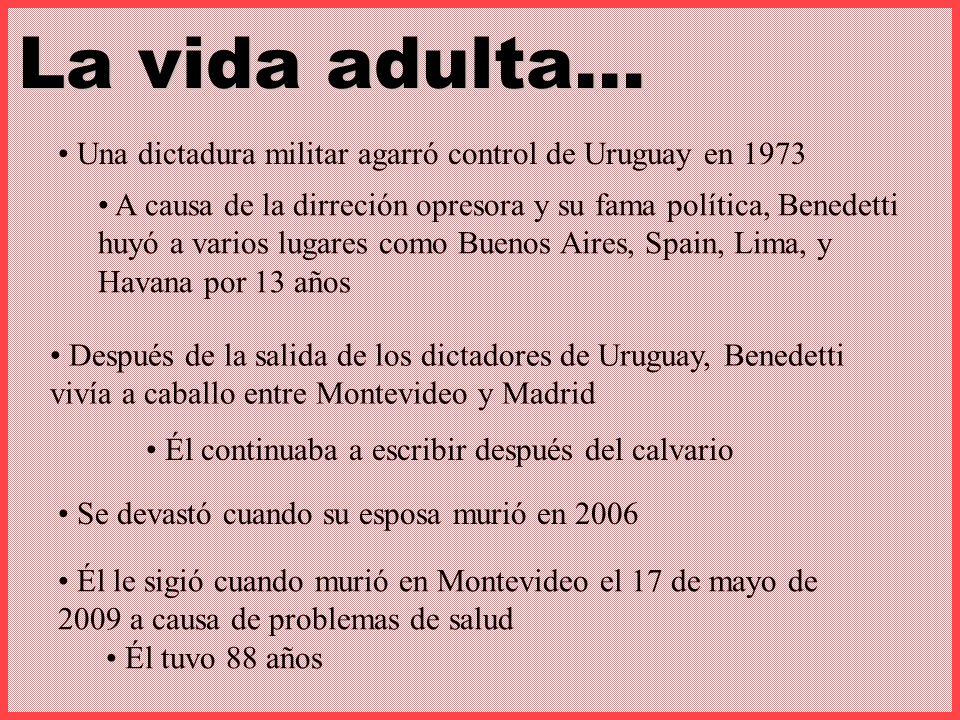 La vida adulta… Una dictadura militar agarró control de Uruguay en 1973.