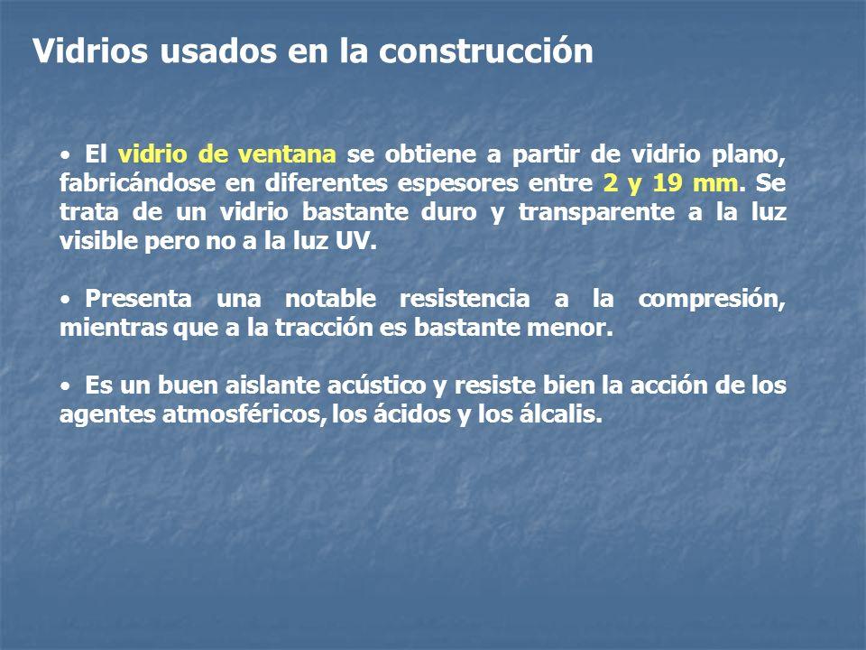 Vidrios usados en la construcción