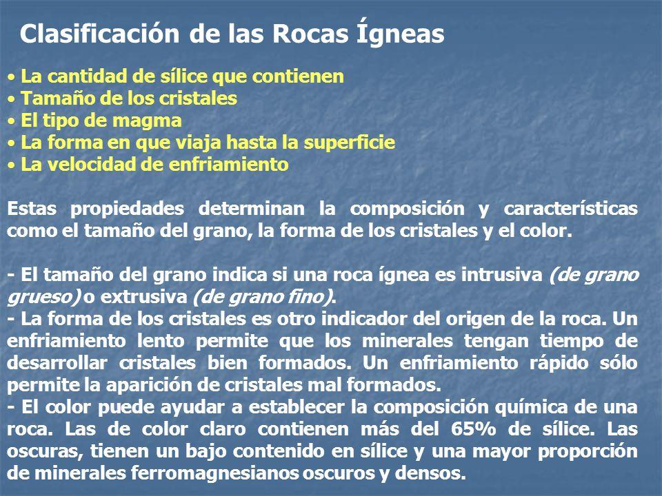 Clasificación de las Rocas Ígneas