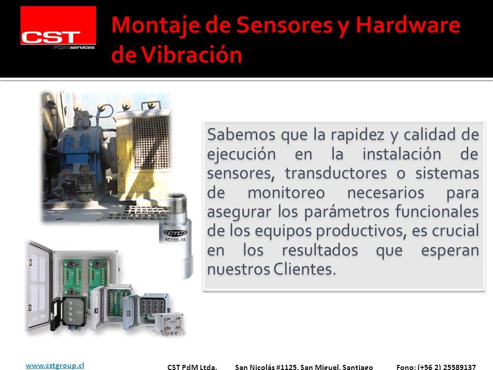 Montaje de Sensores y Hardware de Vibración