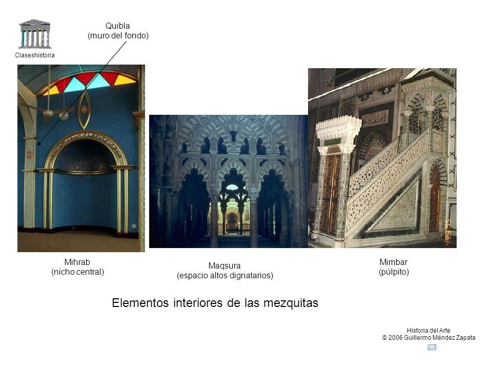 Elementos interiores de las mezquitas
