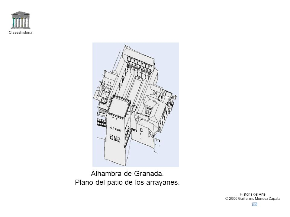 Plano del patio de los arrayanes.