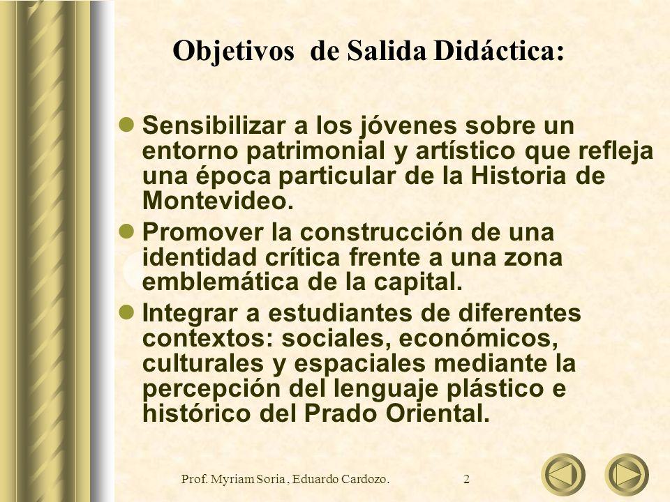Objetivos de Salida Didáctica: