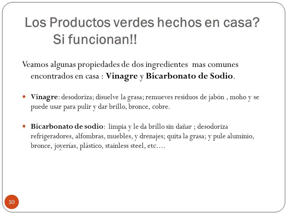 Los Productos verdes hechos en casa Si funcionan!!