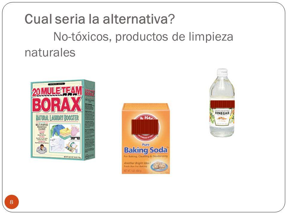 Cual seria la alternativa No-tóxicos, productos de limpieza naturales