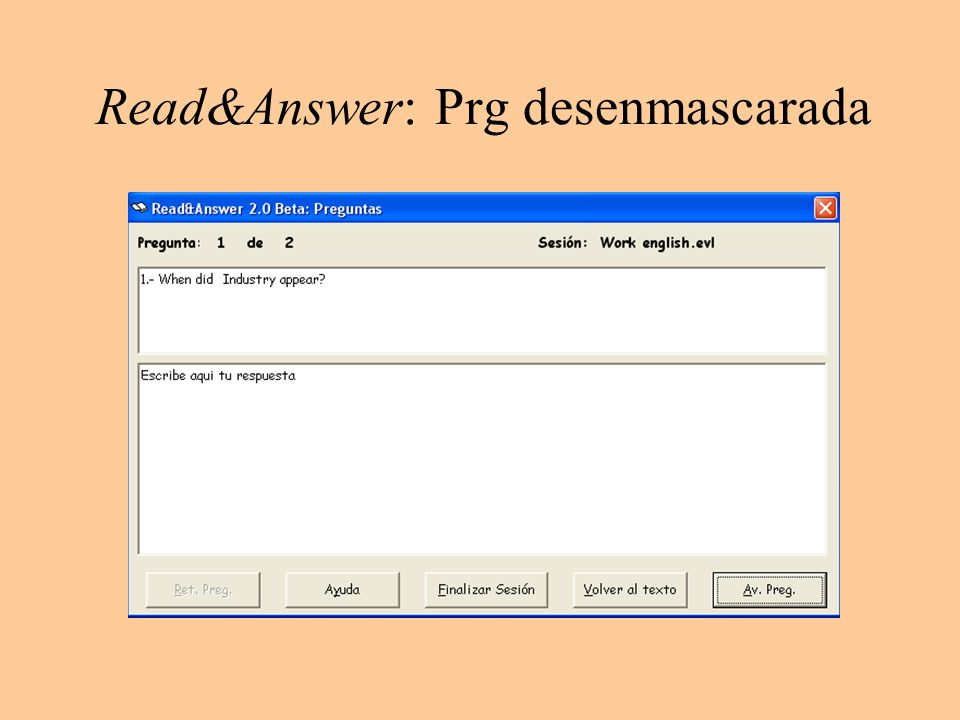 Read&Answer: Prg desenmascarada