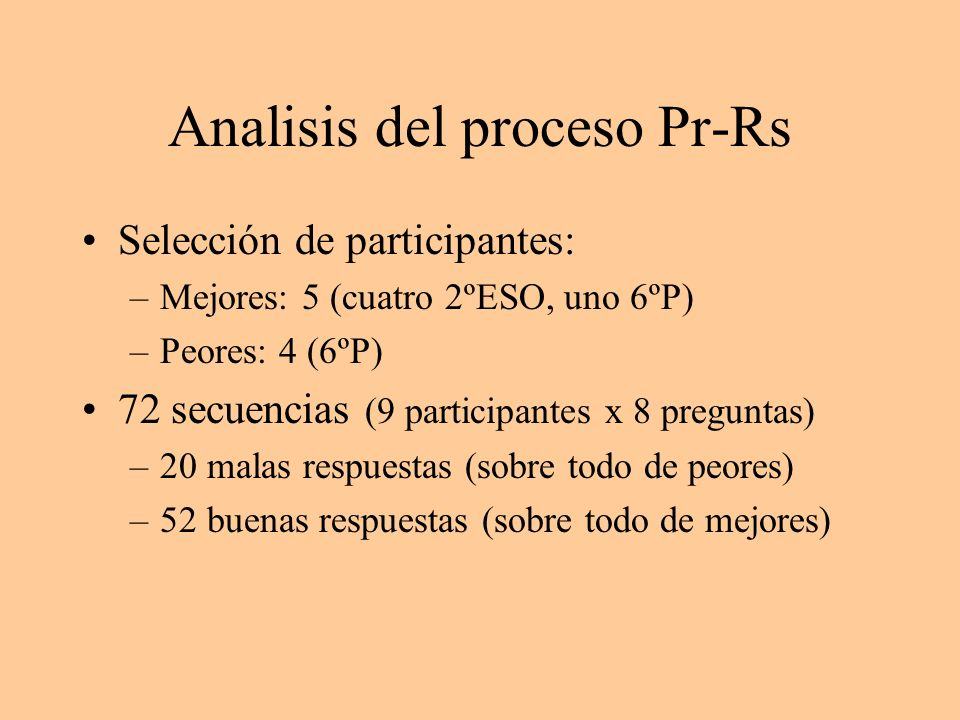 Analisis del proceso Pr-Rs