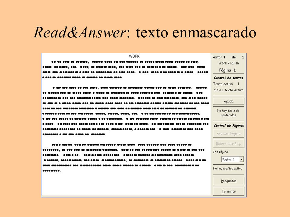 Read&Answer: texto enmascarado