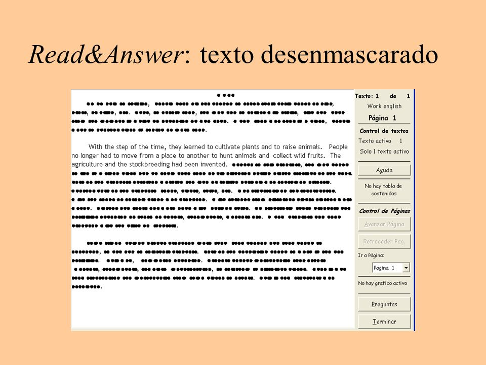 Read&Answer: texto desenmascarado