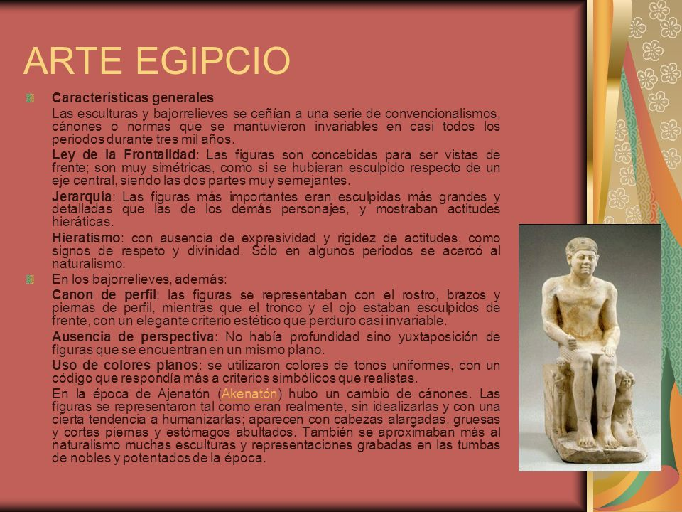 ARTE EGIPCIO Características generales