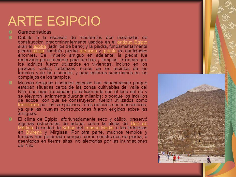 ARTE EGIPCIO Características