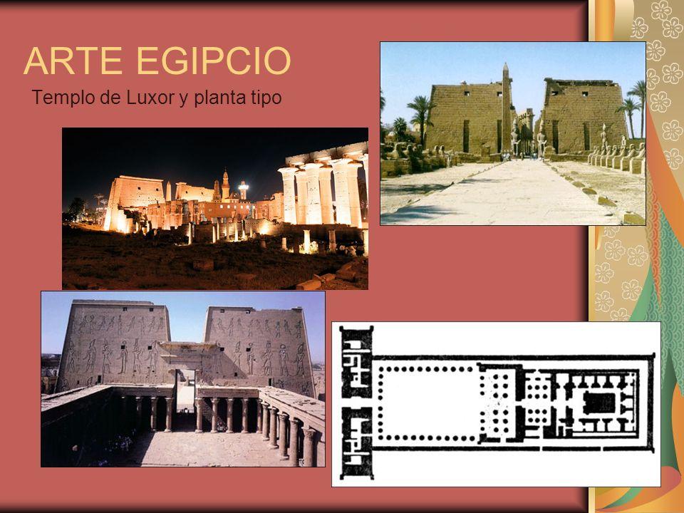 ARTE EGIPCIO Templo de Luxor y planta tipo