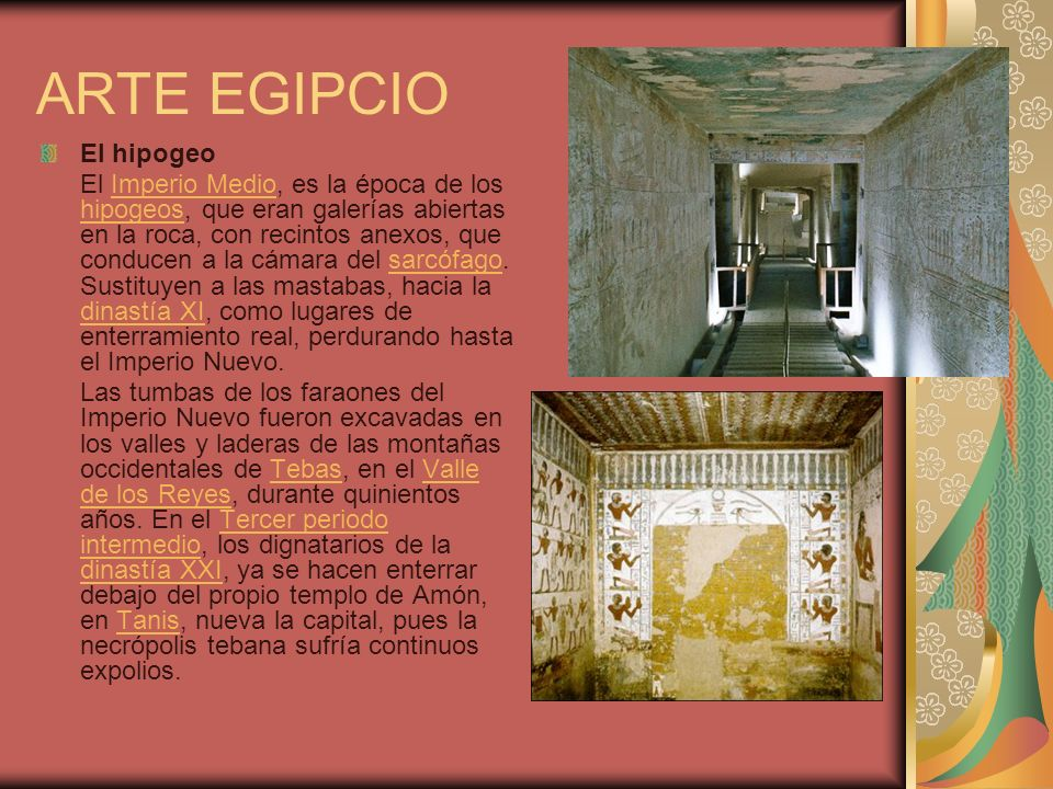 ARTE EGIPCIO El hipogeo