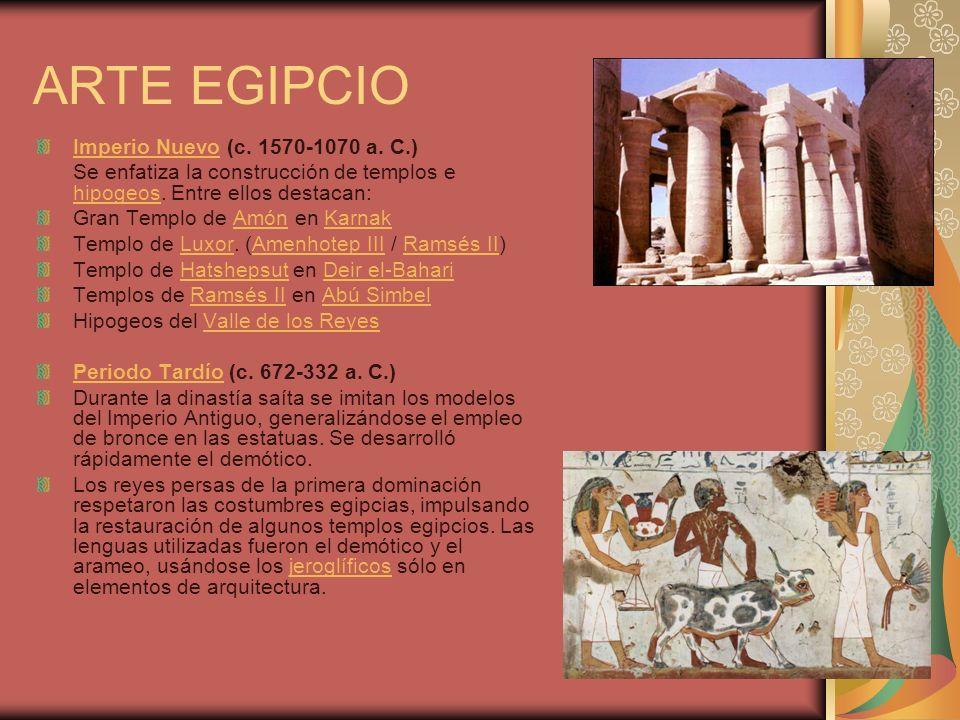 ARTE EGIPCIO Imperio Nuevo (c. 1570-1070 a. C.)