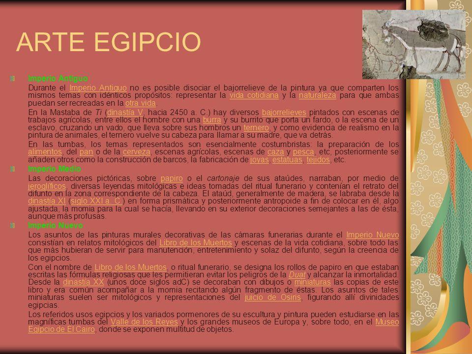 ARTE EGIPCIO Imperio Antiguo