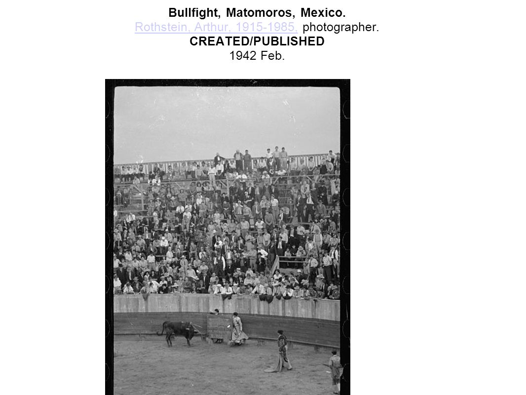 Bullfight, Matomoros, Mexico