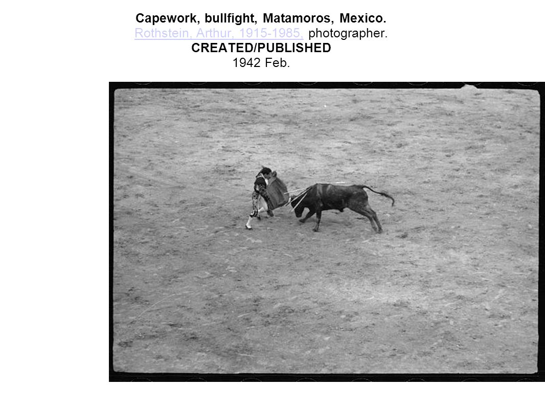 Capework, bullfight, Matamoros, Mexico