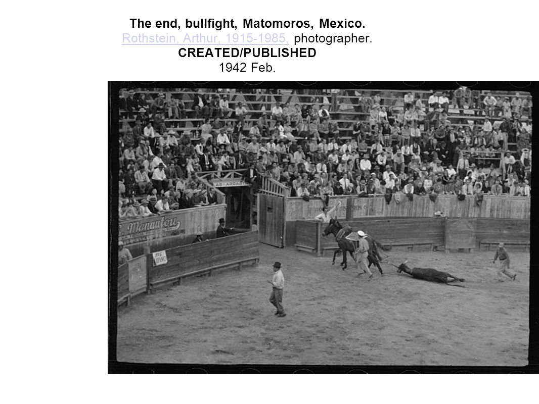 The end, bullfight, Matomoros, Mexico