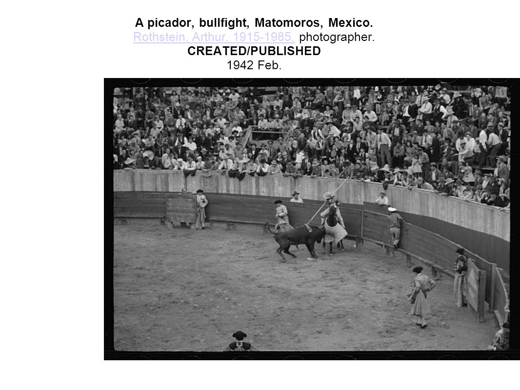 A picador, bullfight, Matomoros, Mexico