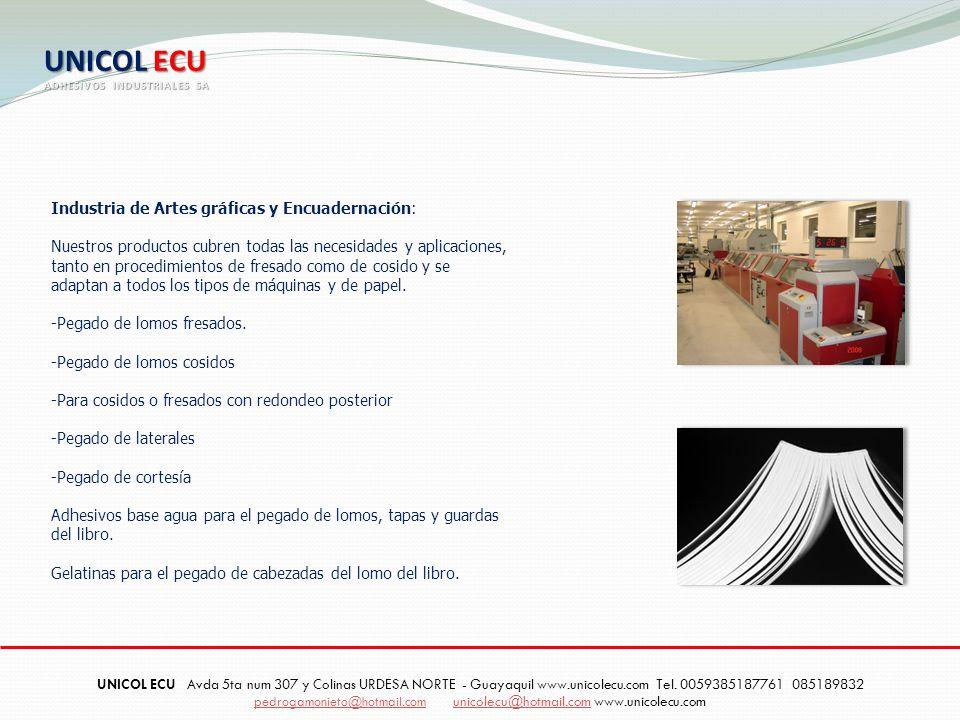 UNICOL ECU Industria de Artes gráficas y Encuadernación: