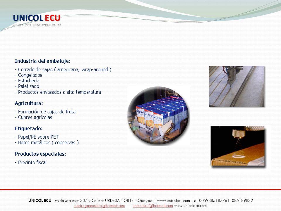 UNICOL ECU Industria del embalaje:
