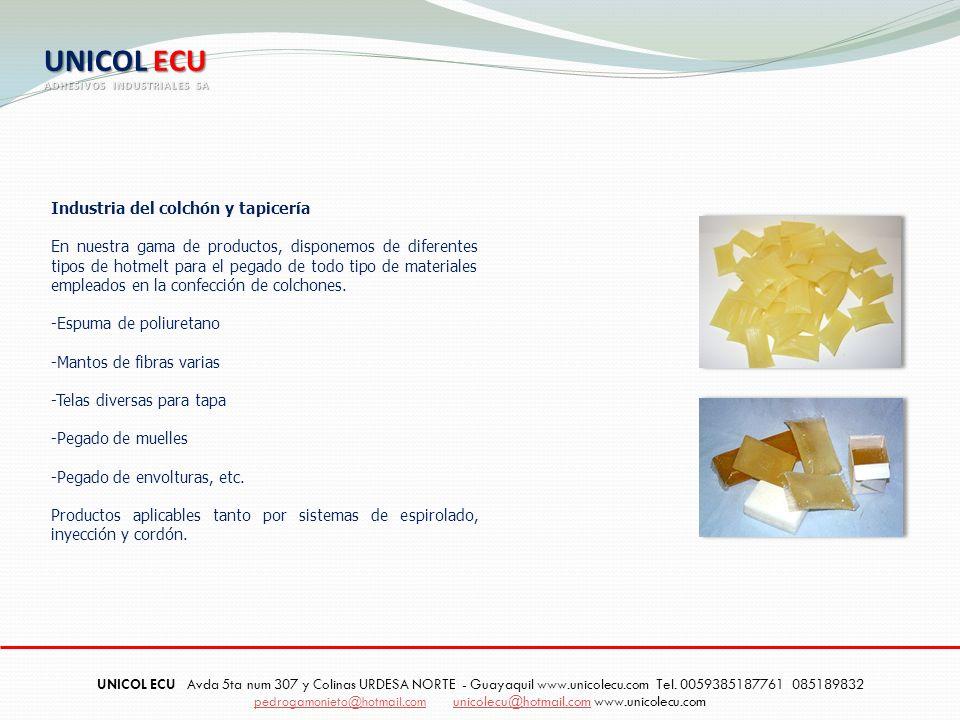 UNICOL ECU Industria del colchón y tapicería