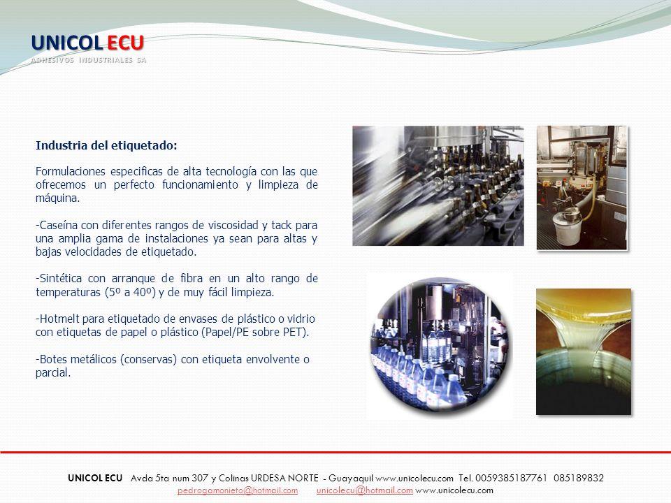 UNICOL ECU Industria del etiquetado: