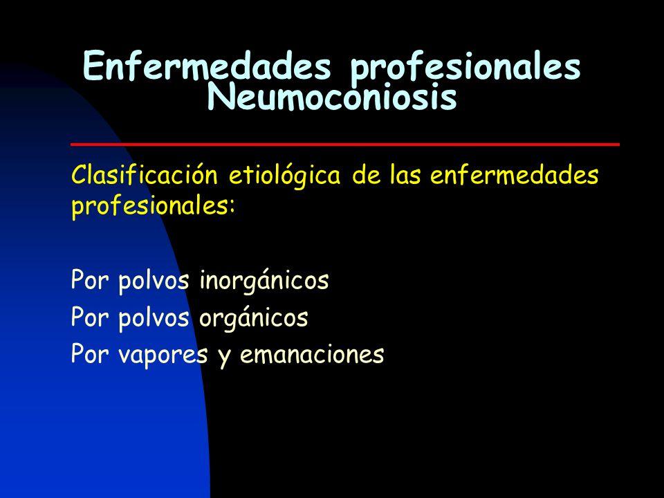 Enfermedades profesionales Neumoconiosis