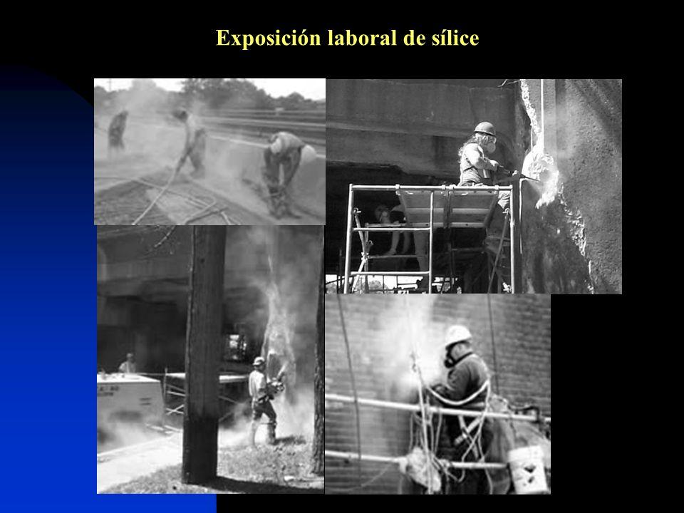 Exposición laboral de sílice