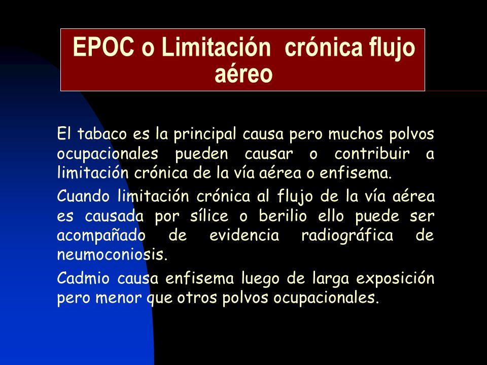 EPOC o Limitación crónica flujo aéreo