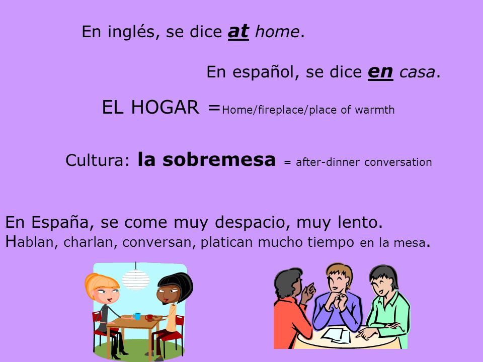 EL HOGAR =Home/fireplace/place of warmth
