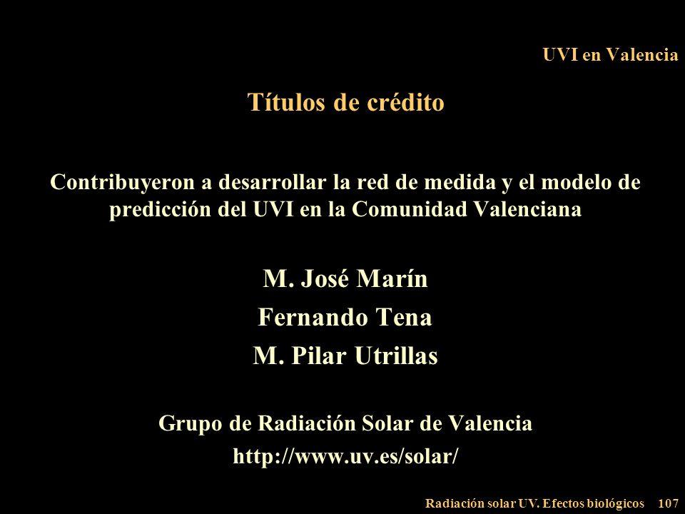 Grupo de Radiación Solar de Valencia