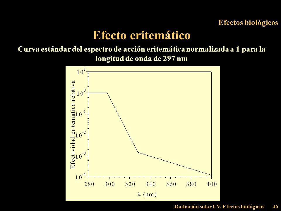 Efecto eritemático Efectos biológicos
