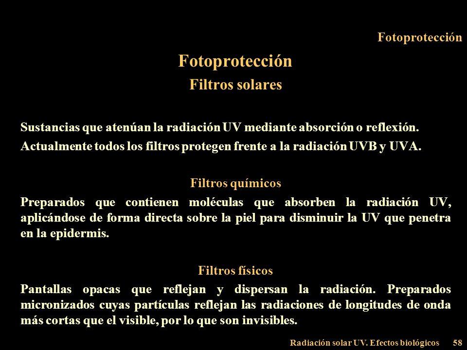 Fotoprotección Filtros solares Fotoprotección